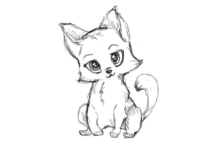 Как нарисовать кошку поэтапно, карандашом