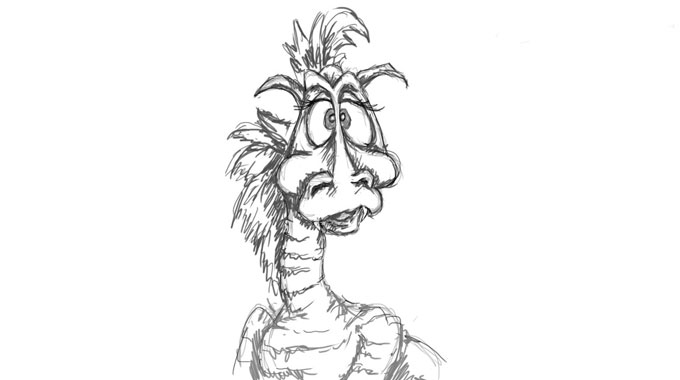 Как нарисовать дракона. Возьмите карандаш!