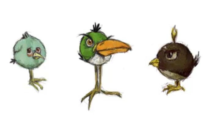«Милые птички» Angry Birds! Нарисуй их за 5 минут!