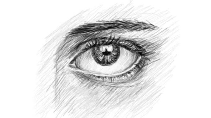 Как нарисовать глаза карандашом. Поэтапная прорисовка