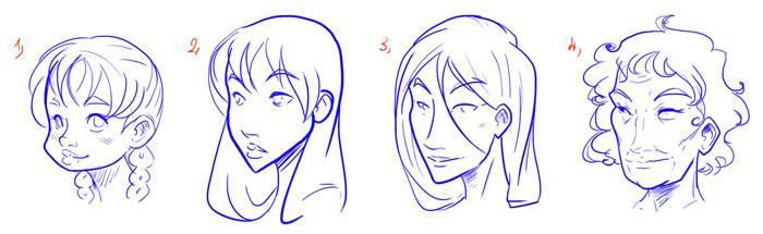 Как нарисовать женское лицо