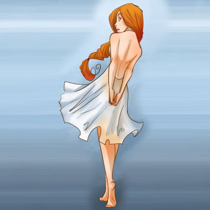 Пример, как рисовать женскую фигуру