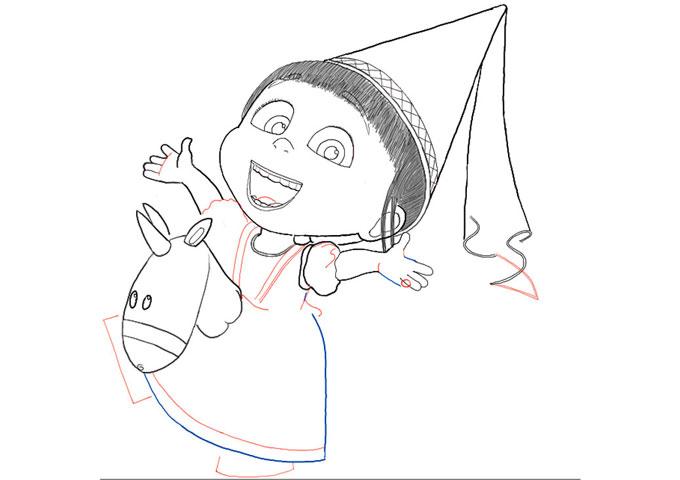 Рисуем Агнес из мультика Гадкий Я