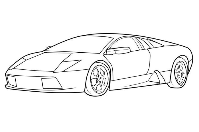 як намалювати машину ламборджини