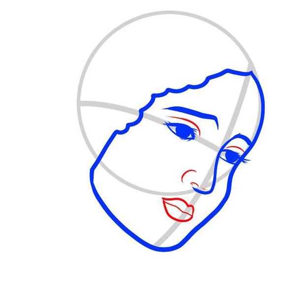 Рисуем лицо формы лица