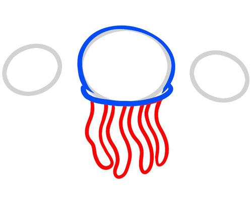 Как рисовать медузу