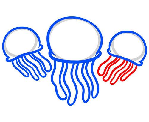 Дорисовываем правую медузу