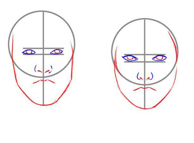 Рисуем форму лица