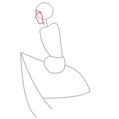 Рисуем профиль и линию волос