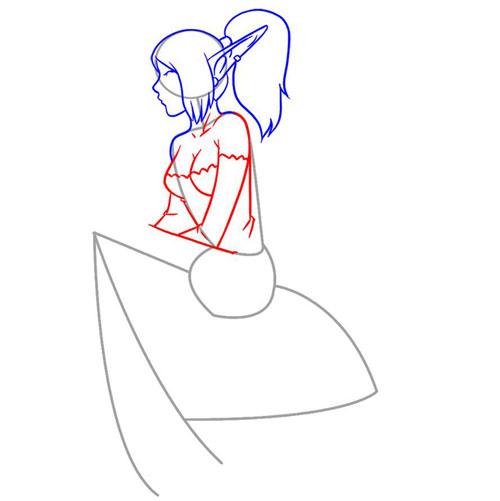 Рисуем Эльфа девочку поэтапно