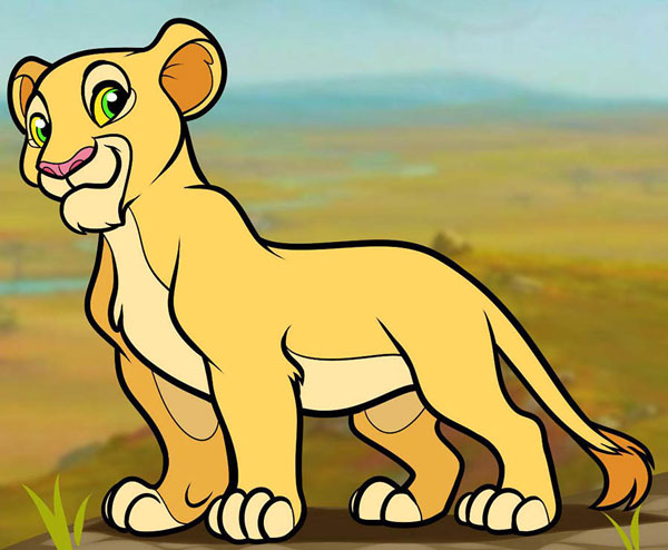 Рисуем Налу из мультика «Король лев»