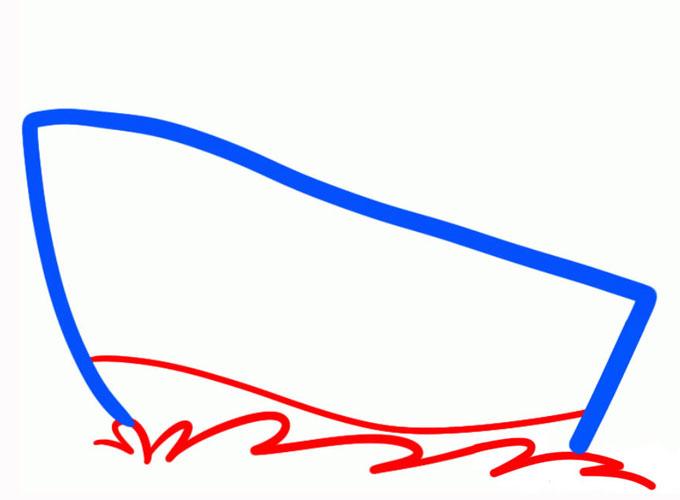 Рисуем волны бьющие о борт парохода