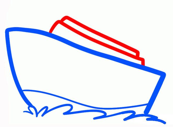 Рисуем верхнюю часть парохода