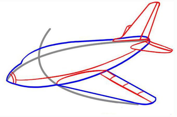Рисуем хвост и придаем форму крыла