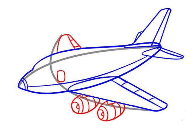 Рисуем второе крыло и двигатели