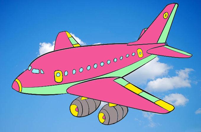 Как рисовать самолет для детей