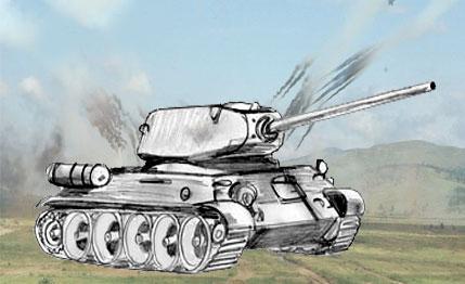 Как нарисовать танк Т 34