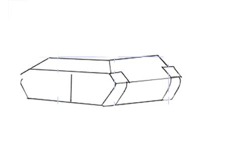 Рисуем основу танка Т34