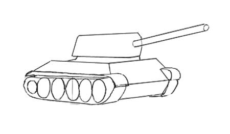 Рисуем катки колес и гусеницы Т-34