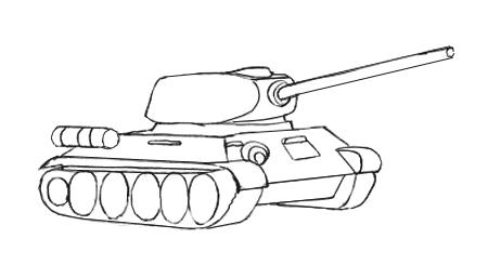 Рисуем башню Т-34