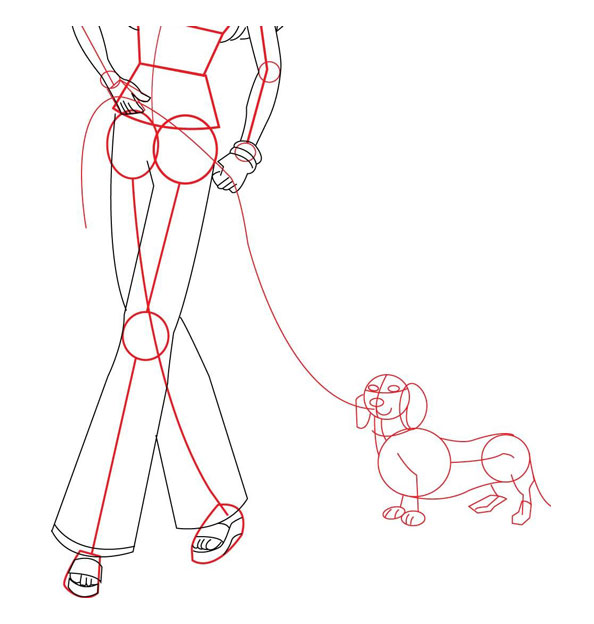 Рисуем собаку для Барби
