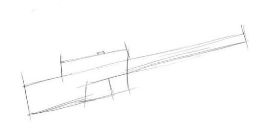 Рисуем набросок нашей винтовки