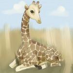 Учимся как нарисовать жирафа