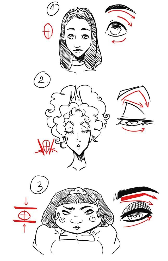 Передача характера принцессы в рисунке