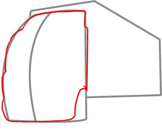 Рисуем контуры кабины
