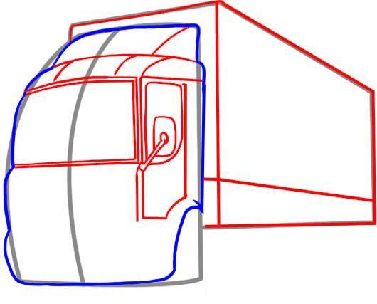 Рисуем фургон грузовика