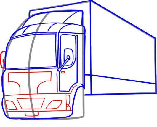 Рисуем бампер и радиатор грузовика
