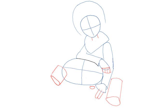 Рисуем пальцы и ноги мальчика