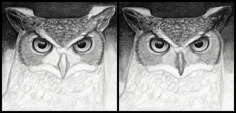 Рисуем клюв совы