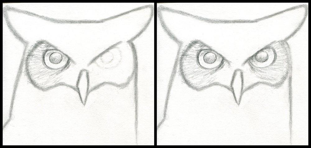 Рисуем область вокруг глаз