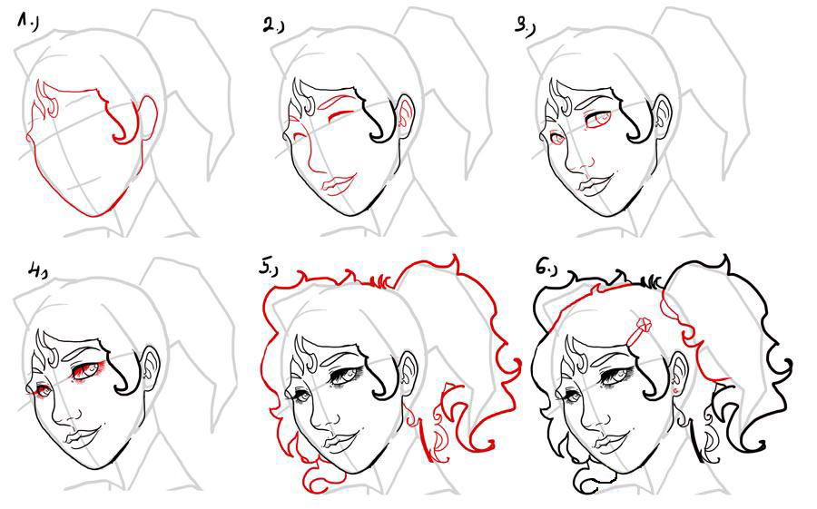 Как рисовать девушку для начинающих