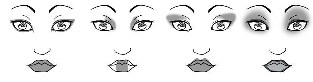 Рисуем макияж девушки