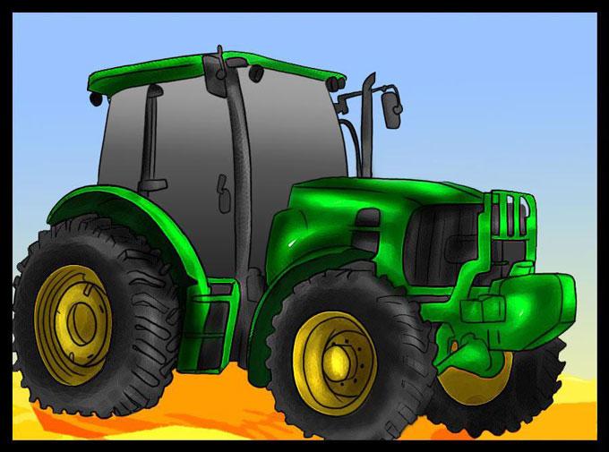 Учимся, как нарисовать трактор