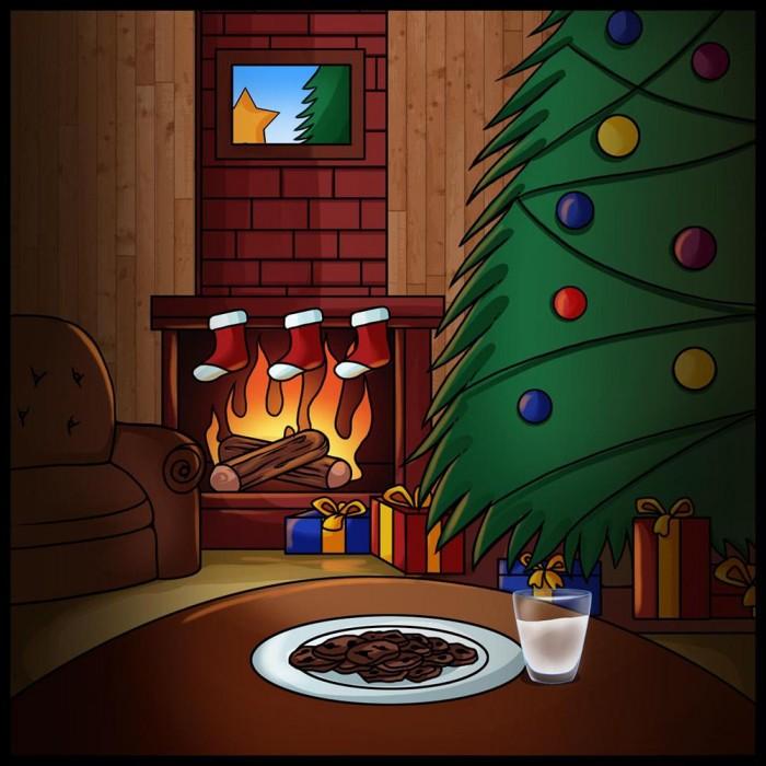 Сегодня рисуем рождество, точнее рождественскую картину