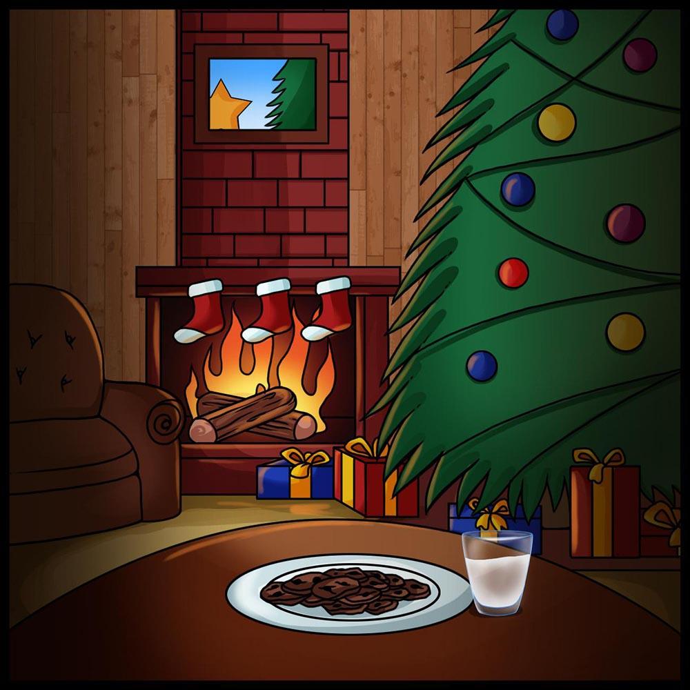 рисуем рождество