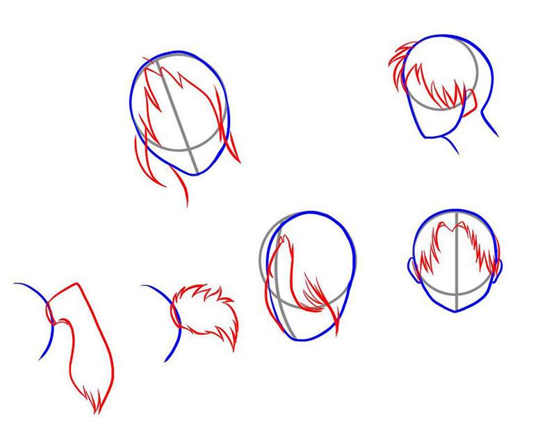 как рисовать прически