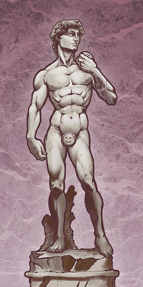 Рисуем Статую Давида