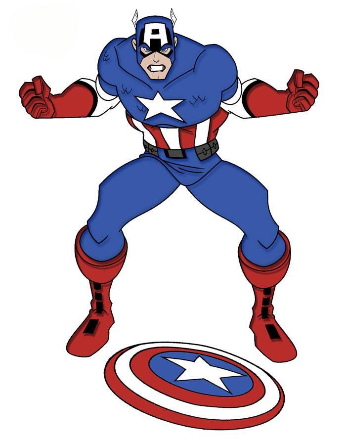 Учимся, как рисовать Капитана Америку