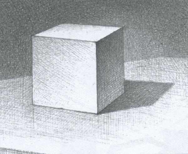 Как нарисовать куб поэтапно с тенью
