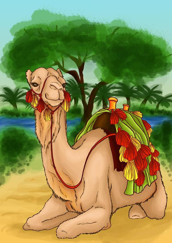 как нарисовать верблюда