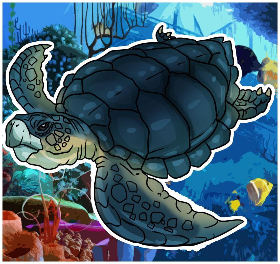 Нарисовать черепаху поэтапно - f91