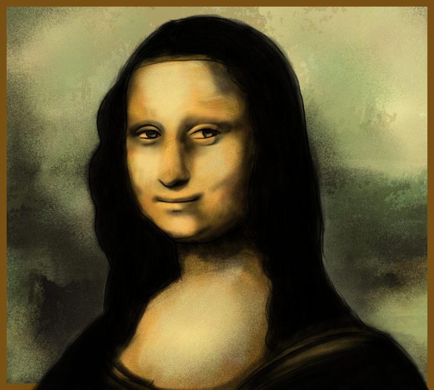 рисуем Мону Лизу